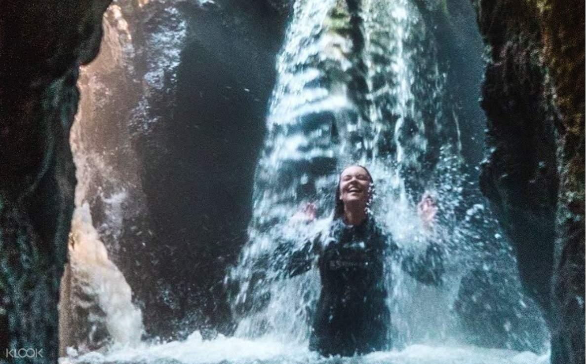 Bathe in the warm waterfalls